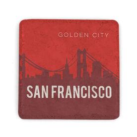 Personalized Stone Coaster - San Francisco Skyline