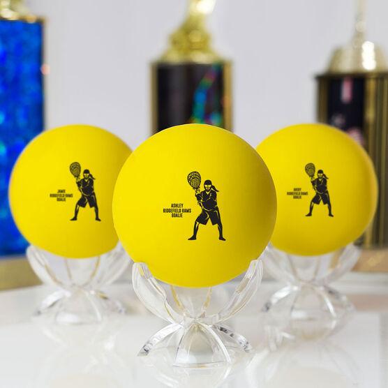 Girls Lacrosse Ball - Personalized Goalie