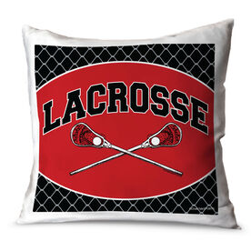 Guys Lacrosse Throw Pillow Lacrosse Crossed Sticks