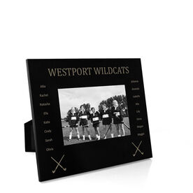 Field Hockey Engraved Picture Frame - Team Name With Roster