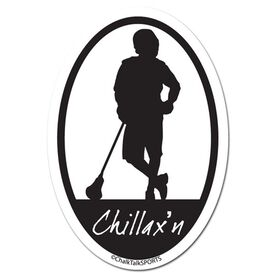 Chillax'n Oval Decal