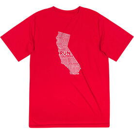 Men's Running Short Sleeve Tech Tee - California State Runner