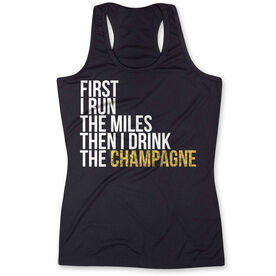 Women's Performance Tank Top - Then I Drink The Champagne