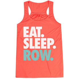 Crew Flowy Racerback Tank Top - Eat Sleep Row (Bold)
