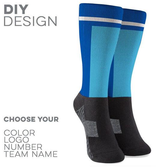 Printed Mid-Calf Socks - Velocity