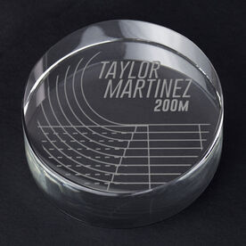Track and Field Personalized Engraved Crystal Gift - Athlete's Name with Event