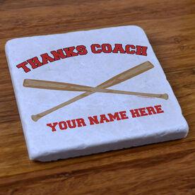 Thanks Coach Baseball - Stone Coaster