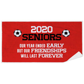 Soccer Premium Beach Towel - 2020 Year Ended Early But Friendships Last Forever
