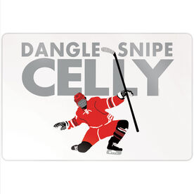"Hockey 18"" X 12"" Aluminum Room Sign - Dangle Snipe Celly"