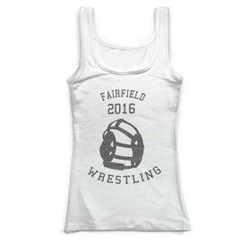 Wrestling Vintage Fitted Tank Top - Wrestle Team
