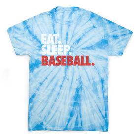 Baseball Short Sleeve T-Shirt - Eat. Sleep. Baseball Tie Dye