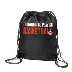I'd Rather Be Playing Basketball Sport Pack Cinch Sack