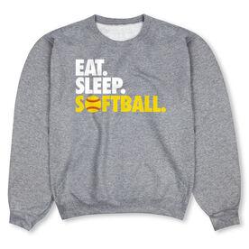 Softball Crew Neck Sweatshirt - Eat Sleep Softball