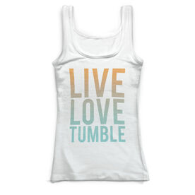 Gymnastics Vintage Fitted Tank Top - Live Love Tumble