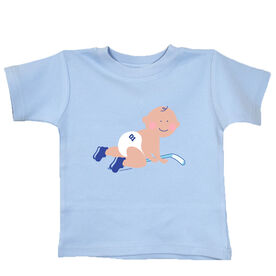 Baby T-Shirt Hockey Baby Crawling