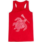 Girls Lacrosse Flowy Racerback Tank Top - Lax Turtle