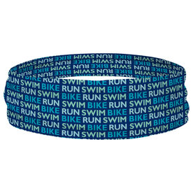 Triathlon Multifunctional Headwear - Swim Bike Run Repeat RokBAND