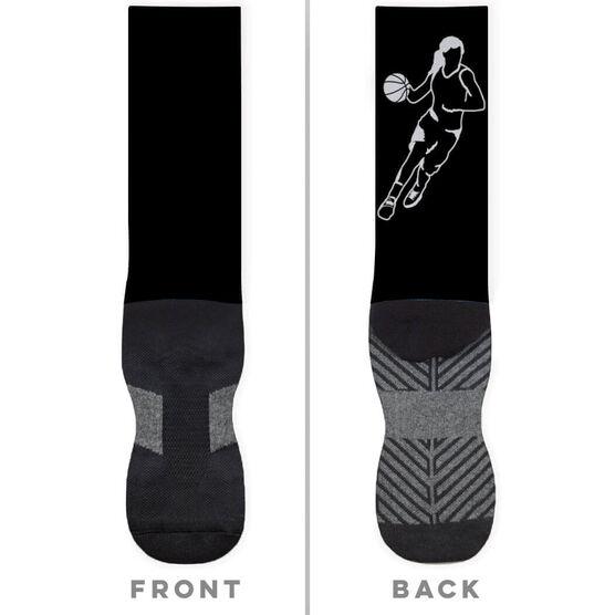 Basketball Printed Mid-Calf Socks - Girl Player