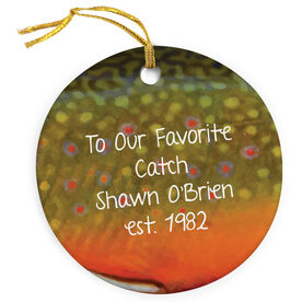 Fly Fishing Porcelain Ornament Brook Trout
