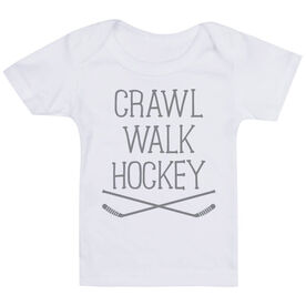 Hockey Baby T-Shirt - Crawl Walk Hockey