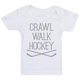 Hockey Baby T-Shirt - Crawl Walk Hockey