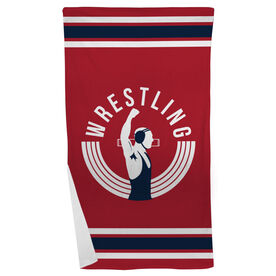 Wrestling Beach Towel Winners Never Quit