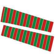 Printed Arm Sleeves - Christmas Stripes