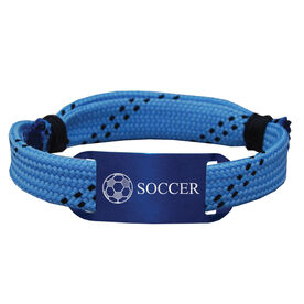 Soccer Lace Bracelet Ball with Soccer Adjustable Sport Lace Bracelet