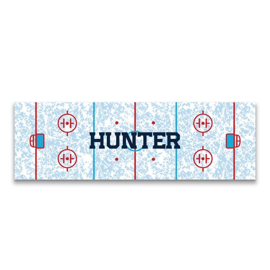 "Hockey 12.5"" X 4"" Removable Wall Tile - Personalized Rink"
