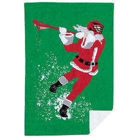 Guys Lacrosse Premium Blanket - Santa Laxer