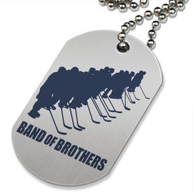 Band Of Brothers Hockey Printed Dog Tag Necklace