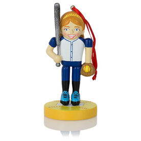 Softball Ornament - Softball Player Nutcracker
