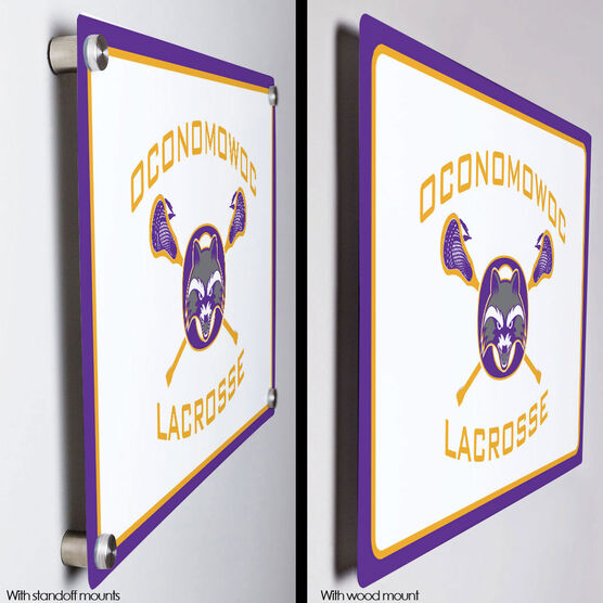 "Room Sign (18""x12"") - Oconomowoc Lacrosse Logo"