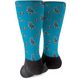 Seams Wild Lacrosse Printed Mid-Calf Socks - Chillax (Pattern)