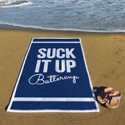 Cross Training Premium Beach Towel - Suck It Up Buttercup