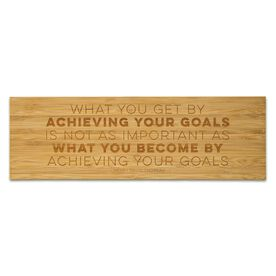 """Running 12.5"""" X 4"""" Engraved Bamboo Removable Wall Tile - What You Get By Achieving Your Goals"""