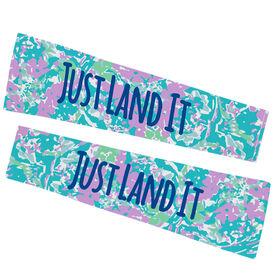 Gymnastics Printed Arm Sleeves - Just Land It