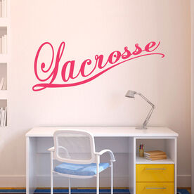 Lacrosse Cursive Removable LulaGraphix Wall Decal
