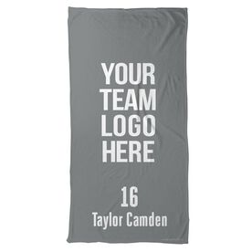 Guys Lacrosse Beach Towel Custom Lacrosse Team Logo
