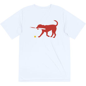 Softball Short Sleeve Performance Tee - Pitch The Softball Dog