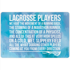 "Girls Lacrosse 18"" X 12"" Aluminum Room Sign - Lacrosse Players"