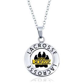 Lacrosse Circle Necklace - Custom Logo