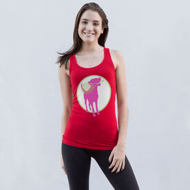 Tennis Women's Athletic Tank Top Dog With Racket