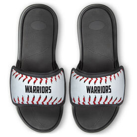 Baseball Repwell® Slide Sandals - Personalized Baseball Stitches