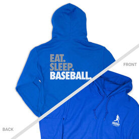 Baseball Hooded Sweatshirt - Eat. Sleep. Baseball Bold Text (Logo Collection)