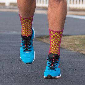 Printed Mid-Calf Socks - Smiley