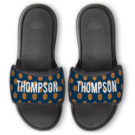 Basketball Repwell™ Slide Sandals - Personalized Basketball Pattern