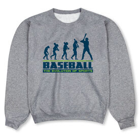 Baseball Crew Neck Sweatshirt - Evolution of Baseball