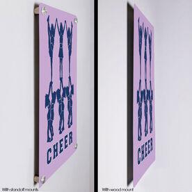 """Cheerleading 18"""" X 12"""" Aluminum Room Sign - Cheer Pyramid"""