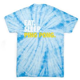 Ping Pong Short Sleeve T-Shirt - Eat. Sleep. Ping Pong Tie Dye